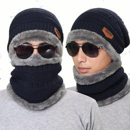 Knitted necK warmers for women online shopping - Knitted Hat Scarf Cap Neck Warmer Winter Hats For Men Women Skullies Beanies Fleece
