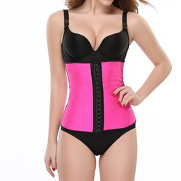 a274b084bcb Pink Latex Waist Trainer Corsets Tummy Control Belts Waist Shaper Cincher  Women Fajas Workout Shaper Body Colombian Girdles 5XL