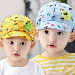 Wholesale lovely baby hats kids hat toddlers infant hat little car baseball beret cap baby girls boys sun hats outside caps