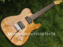 mahogany wood for guitar 2019 - Free shipping ! High Quality solid body Telecaster wood color Electric Guitar in stock