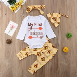 67dee9347 Discount thanksgiving baby outfits - Newborn Baby Boy Girl Thanksgiving  Long Sleeve Bodysuit Letter Tops Pants