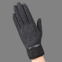 $enCountryForm.capitalKeyWord NZ - Men Winter Cotton Gloves Fingers Touch Screen Gloves with Wool Winter Outdoor Keep Warm Mittens for Men