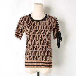 162be4a25 2018 Runway Designer Tops High Quality Harajuku T shirt Women Short Sleeve  Leer Knied TShirt Summer Tops Tee Femme Knitwear