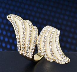 $enCountryForm.capitalKeyWord Australia - New arrival women fashion jewelry angel wings bride engagement wedding ring girl festival gift Christmas birthday