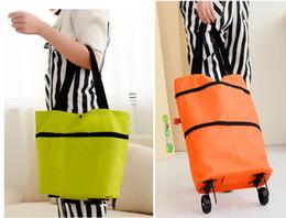 $enCountryForm.capitalKeyWord Canada - Portable folding shopping bag trolley hand reusable storage Shopping Bag On Wheels Rolling Grocery Tote Handbag 100pcs