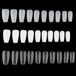 China 100 600Pcs Ballerina False Nails Long Coffin Shape Full Cover False Fake Nails DIY Art Tips Beauty Manicure Decoration Tools supplier ballerina art suppliers