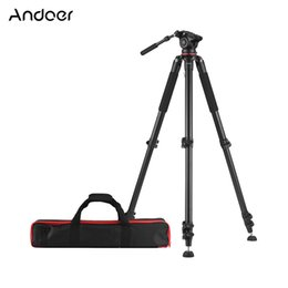 $enCountryForm.capitalKeyWord NZ - Andoer 5.6ft Professional Camera Tripod Heavy Duty Video Camcorder Tripod w Fluid Dray Head Quick Release Plate for DSLR Camera