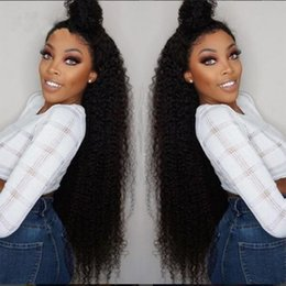 Discount glueless curly lace front wigs - Kinky Curly Lace Front Human Hair Wigs Virgin Brazilian Glueless Human Hair Lace Front Wigs Human Hair Natural Color for