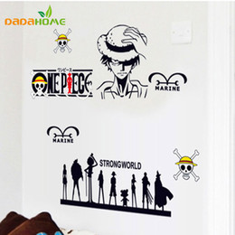 one piece sticker wall Australia - Cartoon Marine Wall sticker One Piece Car sticker Vinyl Wall decal Strong World Stickers for Kids rooms 150x65cm