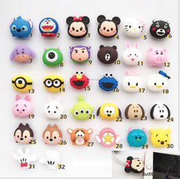 China Cable cartoon Animal Bite Protector for iPhone Cable Organizer Winder Phone Holder Accessory Rabbit Dog Cat Cute Design supplier cute cat iphone suppliers