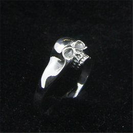 top indian girls NZ - Free Shipping Size 6-10 Lady Girls 925 Sterling Silver Ring Jewelry Newest S925 Top Quality Punk Skull Ring