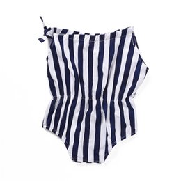 b12271fae6 Mikrdoo Toddler Baby Boys Girls Romper Sleeveless Strapped Striped Cute Bodysuit  Infant Baby Casual Clothes For 0-24M