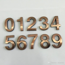 House Plates Australia - Wholesale- New 1PC 0-9 Plastic House Numbers 70*48*8mm Hotel Home Door ABS Plating Number Digits Sticker Plate Signs Address Plaque 2016