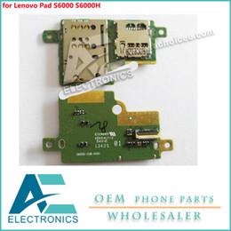Discount lenovo holder - SIM Holder Slot Socket Tray for Lenovo Pad S6000 S6000H pcb board Accessory Bundles