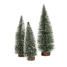 meidding hot mini christmas tree christmas cedar ornaments festival table miniature ornament christmas decorations for home - Miniature Christmas Decorations Uk