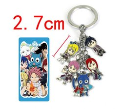 fairy tail keys wholesale UK - New Cartoon Fairy Tail Keychains Alloy Pendant Key Chain Hot Anime Collection Key Ring Kids Gifts Toy K001