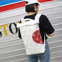 $enCountryForm.capitalKeyWord NZ - Fashion trend 3D Roll Top white Ash Pearl Backpack with red heart adjustable padded shoulder straps main zip compartment