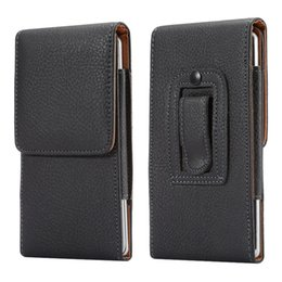 leather belt holster case NZ - Universal Belt clip Holster for 4.7inch-6.3 inch Mobile Phone Bag Case Men Waist Bag for Samsung Huawei LG Xiaomi Noika Sony HTC