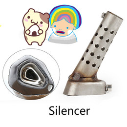 Discount motorcycle silencers - Motorcycle exhaust silencer plug adjustable DB killer muffler stainless steel noise silencer 48   57mm port available
