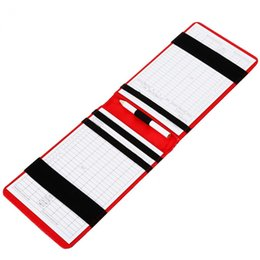 Chinese  PU Golf Score Counter Keeper Card Golf Score Keeper Board Holder with Pencil Sports Practice Golf Training Aids Accessories manufacturers