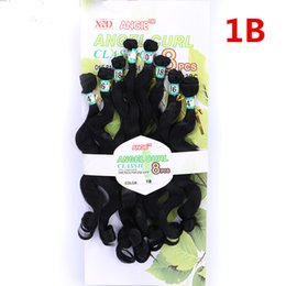 Ombre T27 30 Body Loose Wave Synthetic wet and wavy Weaves 8bundles pack 14 16 18 20inch ANGEL Curly Natural Non Remy Hair on Sale