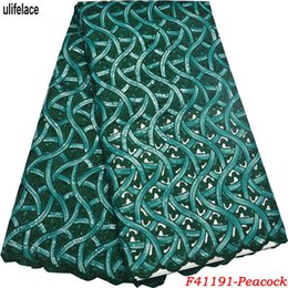 embroidered fabrics for wedding dresses 2019 - Nigerian organza lace fabrics for wedding 2018 Embroidered High quality Double Organza Handcut Net lace wedding dress F4