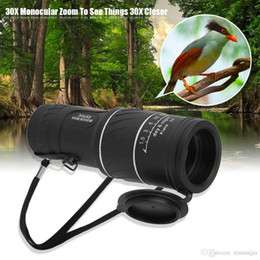 Telescope Image NZ - Black 30 X 52 Dual Focus Dual Green Film Powered Big Eyepiece Monocular Telescope