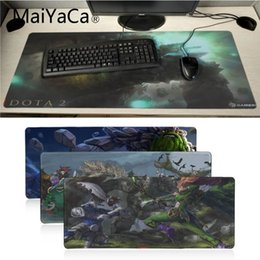 Wholesale MaiYaCa Vintage Cool Dota Tiny Customized laptop Gaming mouse pad thick comfortable natural rubber keyboard mouse pad