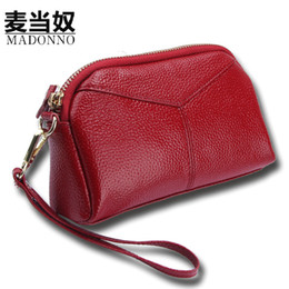 Cell Phone Chain Holder Canada - MADONNO Real Genuine Leather Women Wallets Brand Design High Quality 2017 Cell phone Card Holder Long Lady Wallet Purse Clutch-5
