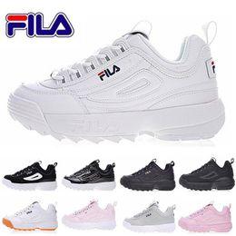 11aedde4 Fila 2 2019 Las más nuevas zapatillas originales blancas Negro Arena gris  Dorado II 2 Mujeres hombres ARCHIVO sección Clásica Senderismo Jogging  Casual ...