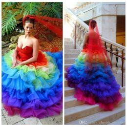 Sweetheart Rainbow Wedding Dresses Australia   New Featured ...