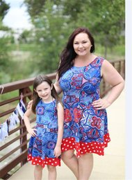 Mom Baby Matching Clothing Canada - Family Matching Dress Outfits Newest Long Sleeve The big pendulum Mother And Daughter Clothes Mom Baby Casual Dresses