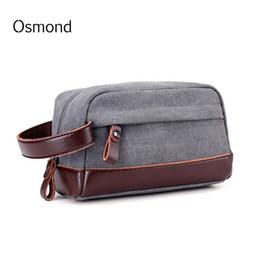$enCountryForm.capitalKeyWord Canada - Osmond Canvas Clutch Bag Men Casual Small Bags Male Phone Pockets Vintage Mens Money Purse Eather Handbag Patchwork Wristlet Bag