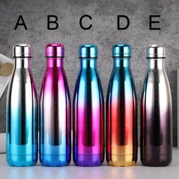 thermos thermal bottle 2018 - Creative Vacuum Cup bowling type Insulated Double Wall 304 Stainless Steel Sports Thermos coke bottle Coffee Mugs discou