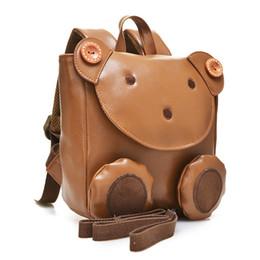 school bags mochilas kids backpacks 2019 - 2017 Korea Cute Bear Anti-lost Small Leather Backpack children school bags for boys girls kids bagpack Mochilas Infantis