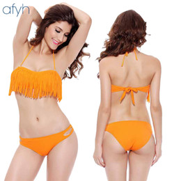 Wholesale womens fashion bikini online – New Pattern Fashion Womens Swimsuits Bathing Suit Lady Fringed Swimwear Beachwear Sexy Two Piece Suits Bikini yh W