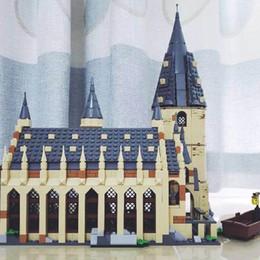 Discount plastic toy castle building blocks - Harry Movie Potter Hogwarts Sets 16052 16053 16054 Compatible Legoing Building Castle Hall Blocks Bricks Christmas Gifts