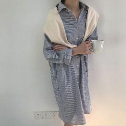 Boyfriends Shirt Australia - Women Shirt Dress Cotton Long Boyfriend Shirts Striped Oversize Causal Style