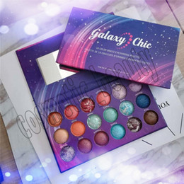 baked eyeshadow makeup UK - Factory Direct New Eyes Makeup Galaxy Chic 18 colors Baked Eyeshadow Palette Galaxy Chic Baked Eye Shadow Palette