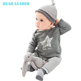 Wholesale Bear Leader Winter Autumn baby boy girl clothes casual Hat T shirt pants The stars leisure baby boys clothing sets