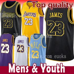 611f2a9c299 Chinese Men Youth Kids 23 LeBron James Jersey Los Angeles 2018 NEW Lakers  LeBron James 2