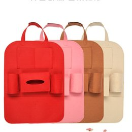 Toy box sTorage bins online shopping - Vehicle Storage Bag Automobile Felt Pouch Car Multi Function Chair Back Box Bin Organizer Holder Hot Sale ck V