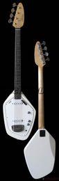 StringS for baSS guitar online shopping - Custom Strings s Vox Phantom IV White Electric Bass Guitar Rare Shape Solid Body Maple Neck Dot Inlay White Pickguard Chrome Hardware