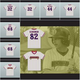 Gold jerseys online shopping - Men Howie Goodman Benchwarmers Pinstriped Baseball Jersey Gus Matthews Clark Reedy Richie Goodman Jerseys