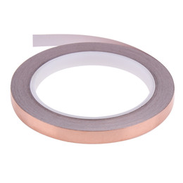 Wholesale 20m 10mm Copper Foil Stained Glass Foil Tape for EMI Shielding Slug Repellent Electrical Repair Waterproof Single Conductive