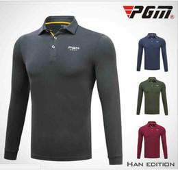 T-shirt à manches longues pour homme PGM Golf Vêtements homme Hiver Automne Vêtements Tissu Modal