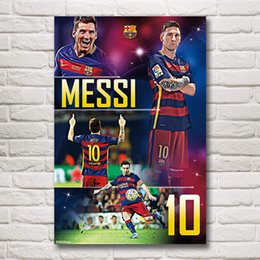 Fabric spray paints online shopping - Argentine Soccer Player Lionel Messi Art Silk Fabric Poster Print Pictures Home Decoration Painting x18 x36 Inches