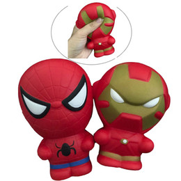 $enCountryForm.capitalKeyWord NZ - Squishy Cartoon Character iron Man Spiderman Kawaii Marvel Heros Squishies Captain America Hulk Decoration Simulation Kids Toys