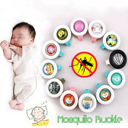 Wholesale Anti mosquito Button Baby Cute Cartoon Mosquito Repellent Clip Adults Kids Summer Non toxic Mosquito Repellent Buckle Pest Control