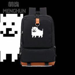 $enCountryForm.capitalKeyWord NZ - Undertale concept backpack lovely undertale mosaic dog printing props backpacks big nylon school bag NB118